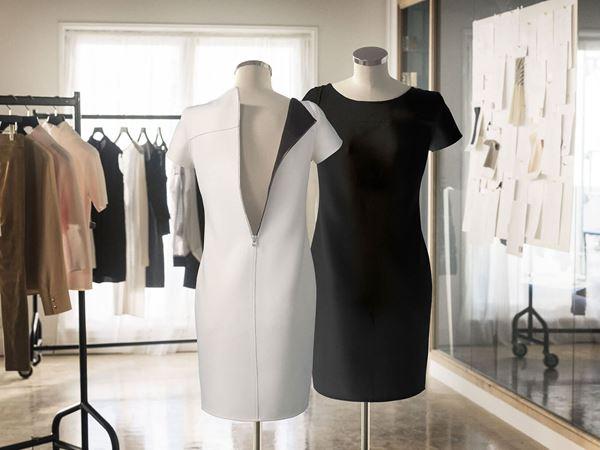 Nivea Reversible Black & White Dress