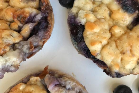 recept blauwe bessen muffins