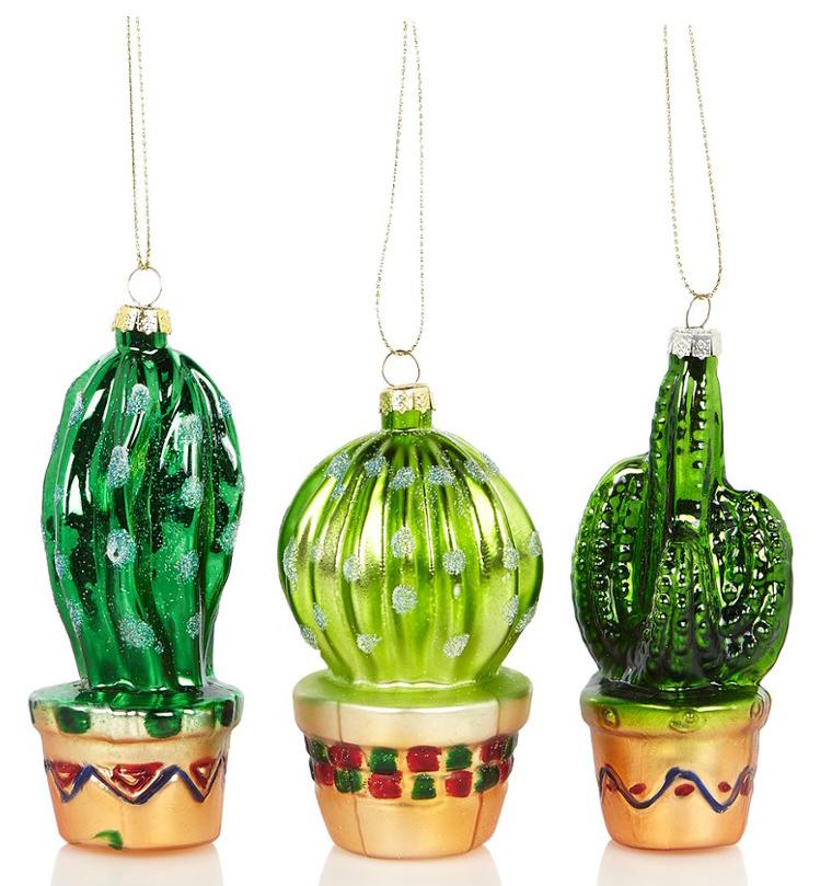 originele kerstballen cactus