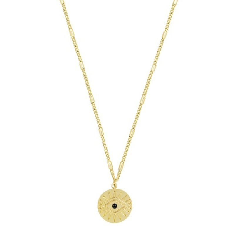 coin necklace goud
