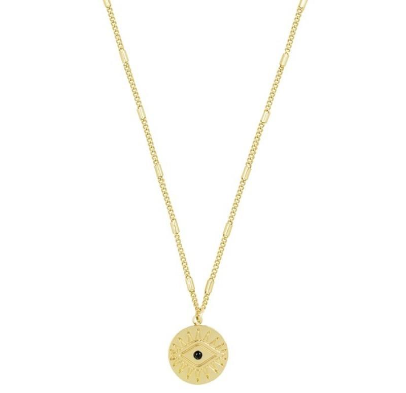 coin necklace goud