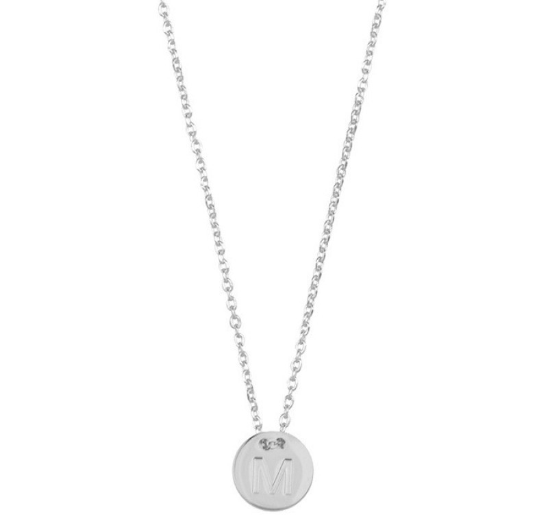 coin necklace zilver