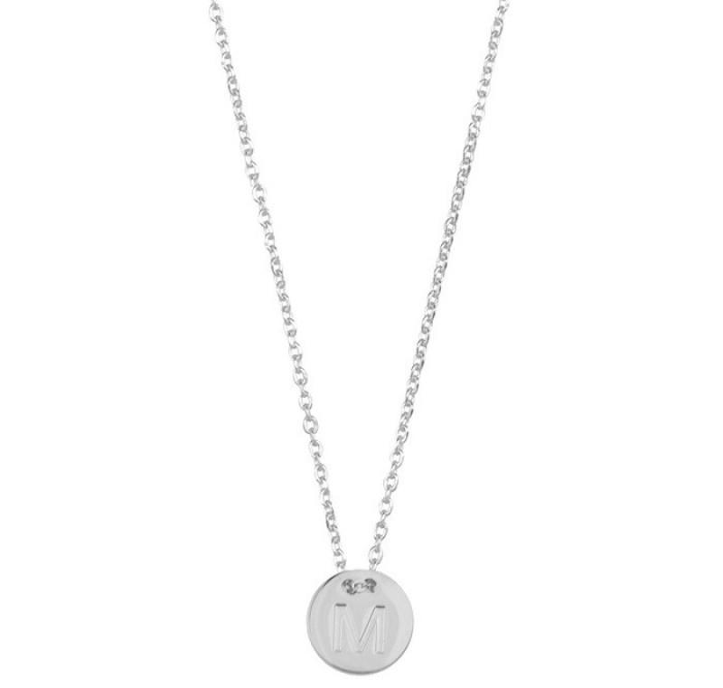 coin necklace zilver