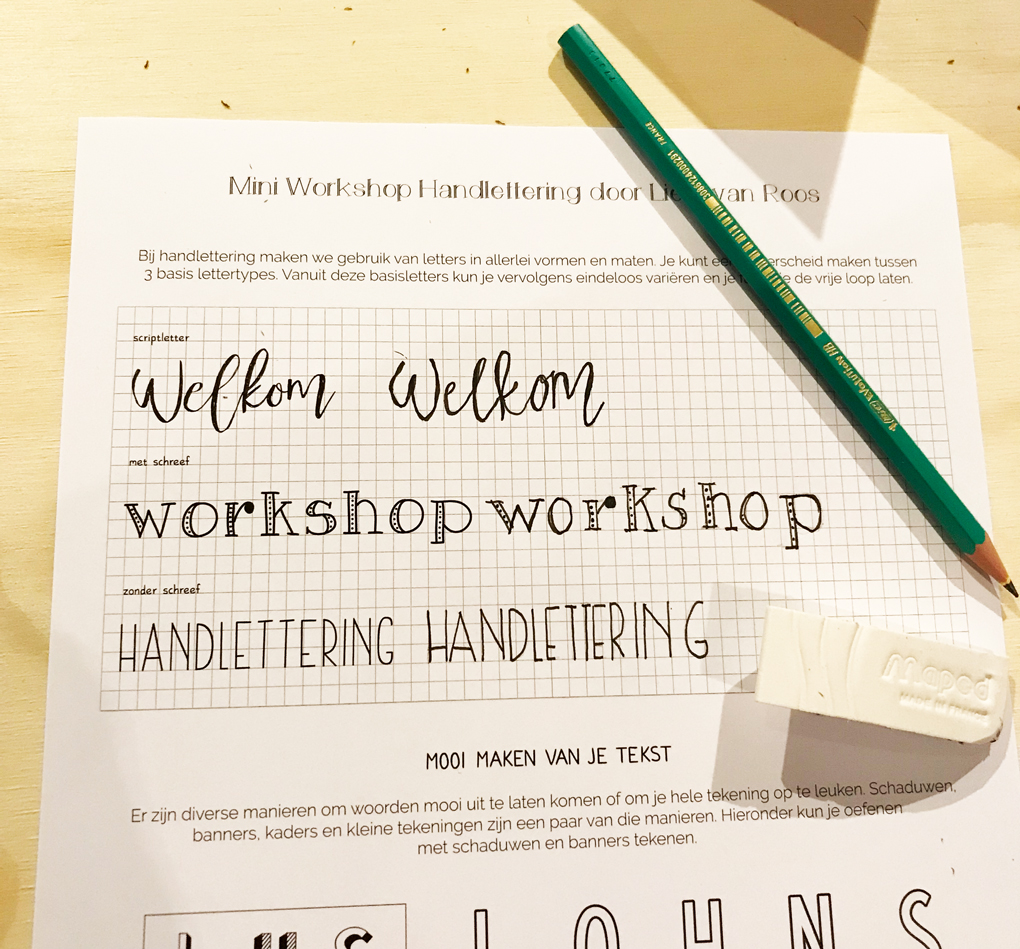 hand lettering workshop