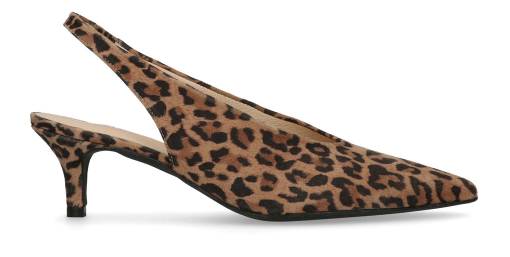 kitten heels luipaard