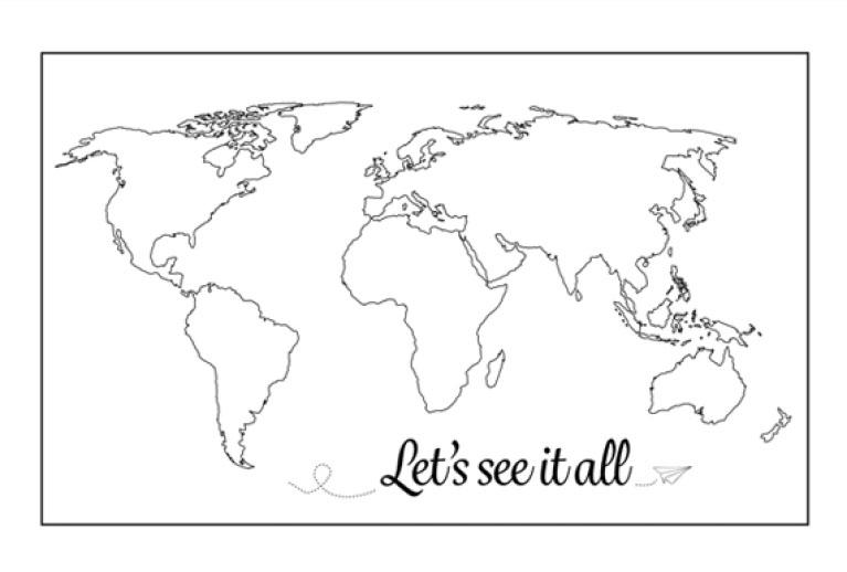 inspiratie muur wereldkaarten
