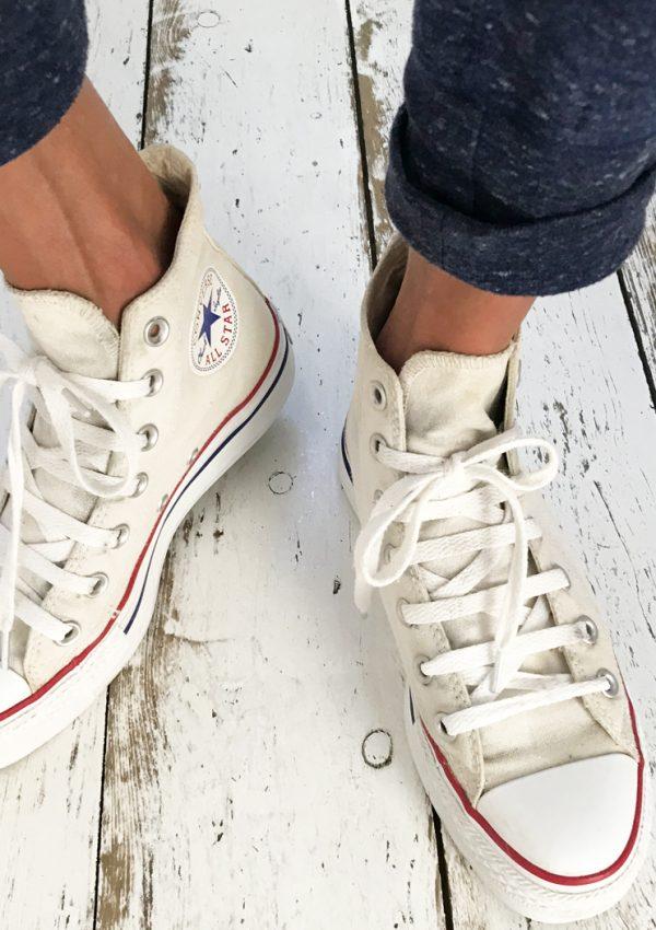 DIY: (witte) Converse All Stars schoonmaken
