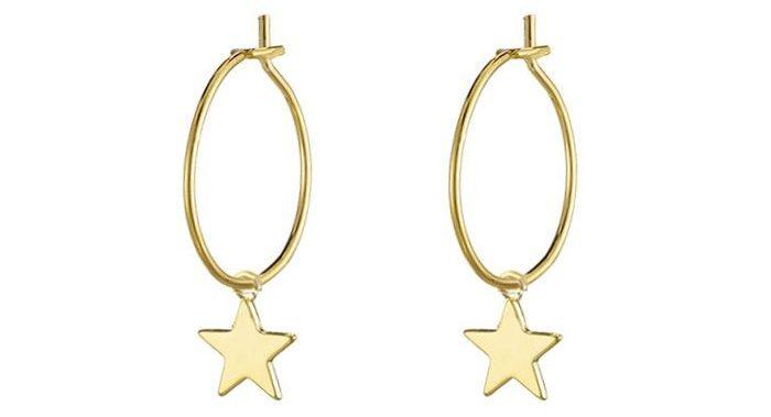 oorringen met hanger ster