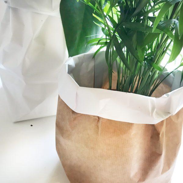 plantenzak van papier maken diy