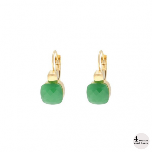 Magic Moment groen gouden oorbellen